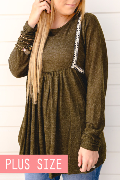 Olive Carrie Blouse