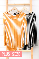 Knit Striped Long Sleeve