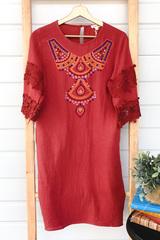 Ava Embroidered Midi Dress