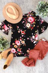 Apryl Floral Ruffle Sleeve