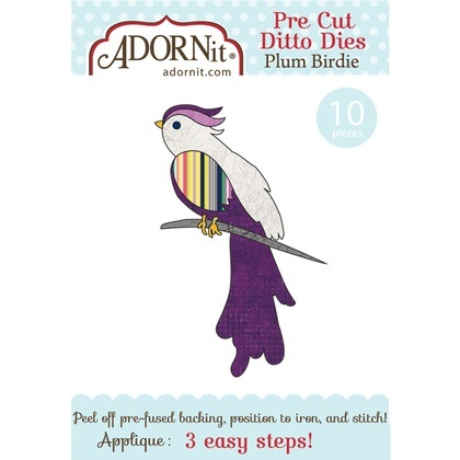 Plum Birdie Applique