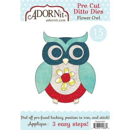 Flower Owl Applique