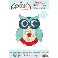 Flower Owl Applique