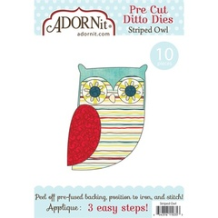 Striped Owl Applique