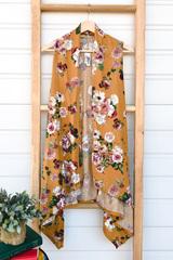 Open Front Floral Vest