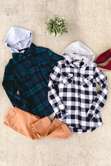 Jackie Hooded Plaid