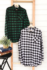 Pocket Plaid Tunic