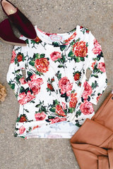 Floral Knot Top