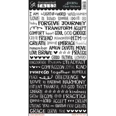 Faith Text Strips Clear Sticker
