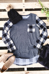Uptown Plaid Top