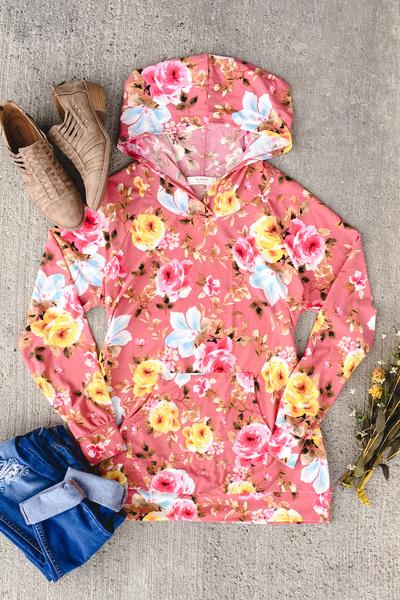 Blush Floral Hoodie