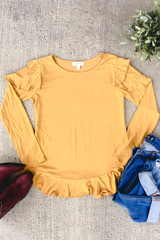 Flirty Long Sleeve - Mustard