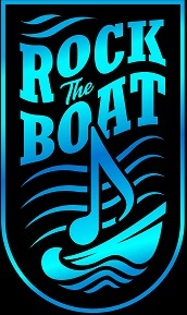 Rock the boat black background resized by about 35 percent