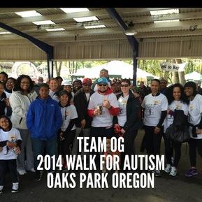 TEAM OG 2014 Walk For Autism, Oaks Park