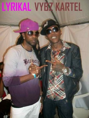 """Lyrikal & Vybz Kartel Getting Ready To Hit The Stage"""
