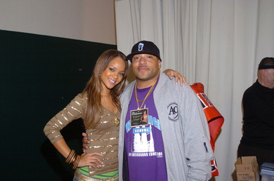 Me & Rihanna after a show..