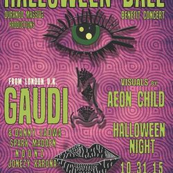 KDUR HALLOWEEN BALL http://www.kdur.org/ A BENEFIT SHOW FOR KDUR COMMUNITY RADIO WITH SPECIAL GUEST  GAUDI ft. Danny Ladwa (LONDON,U.K),  Spark Madden nOOnz Jonezy Karona Live visuals by The Aeon Child 21+ Doors 9:00pm  $25 GENERAL ADMISSION  $30 VIP TICKETS AVAILABLE AT SOUTHWEST SOUND, KDUR, & http://www.durangomassive.com/ VIP PASS INCLUDES (BALCONY ACCESS, $4 WELLS AND DRAFTS, LIMITED SCREEN PRINT POSTER)   GAUDI There's no easy way to encapsulate GAUDI's vast body of work. For the past three decades, the innovative producer and solo artist has been shattering genre barriers, pioneering the electronic and dance music worlds, and amassing a stunning collection of originals, remixes, collaborations, and soundtracks spanning the worlds of reggae, dub, breaks, globalbeat, and cutting-edge psychedelic bass music.Whether he's finessing high-profile projects in the studio, or whipping a crowd into a frenzy, the Italian-born UK-based artist places all importance on sonic perfection, and providing the best aural experience for his fans. He has done so for his entire career, which has seen the release of 14 solo albums, over a hundred compilations, 250 productions and a number of movie soundtracks. Live, every GAUDI performance is unique and unpredictable in the best possible way as he never uses a computer on stage. A consummate musician and performer, he plays live Theremin, MiniMoog, Vocoder, tape echoes, electronic percussion, multi-effects, Stylophone and dub sirens, and mixes live dub vocals thru his analogue equipment to maximum effect. Beyond the music, a burning passion reveals itself in a scathing rebuttal of tyranny and oppression through sonic resistance. In constant demand on the live touring and festival circuits, GAUDI and his partner in rhyme, Danny Ladwa spread the words of peace, love on every stop, performing at some of the best festivals on the planet, from Shambhala in Canada; to Boom Festival in Portugal; Glastonbury, Glade, Waveform in the UK; Elect