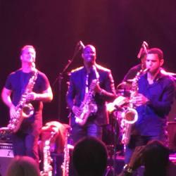 Brandon performs with Eric Darius and Darren Motamedy