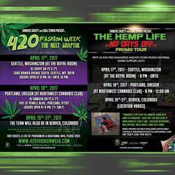 420 Fashion Week 2017 + Hemp Life Tour (April 17-21, 2017).