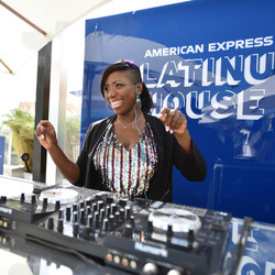 Djing for American Express during Art Basel on South Beach