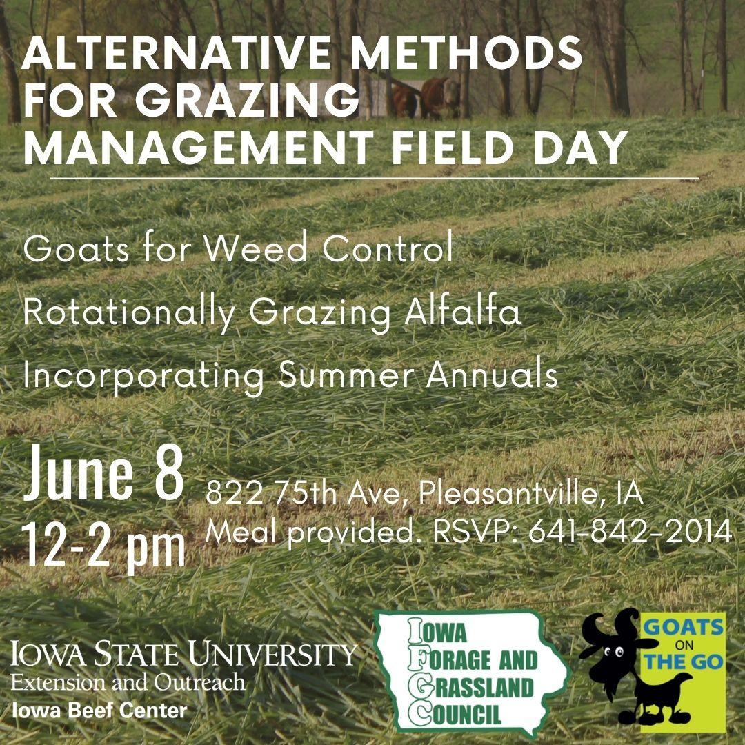 Alternative Methods for Grazing Management Field Day