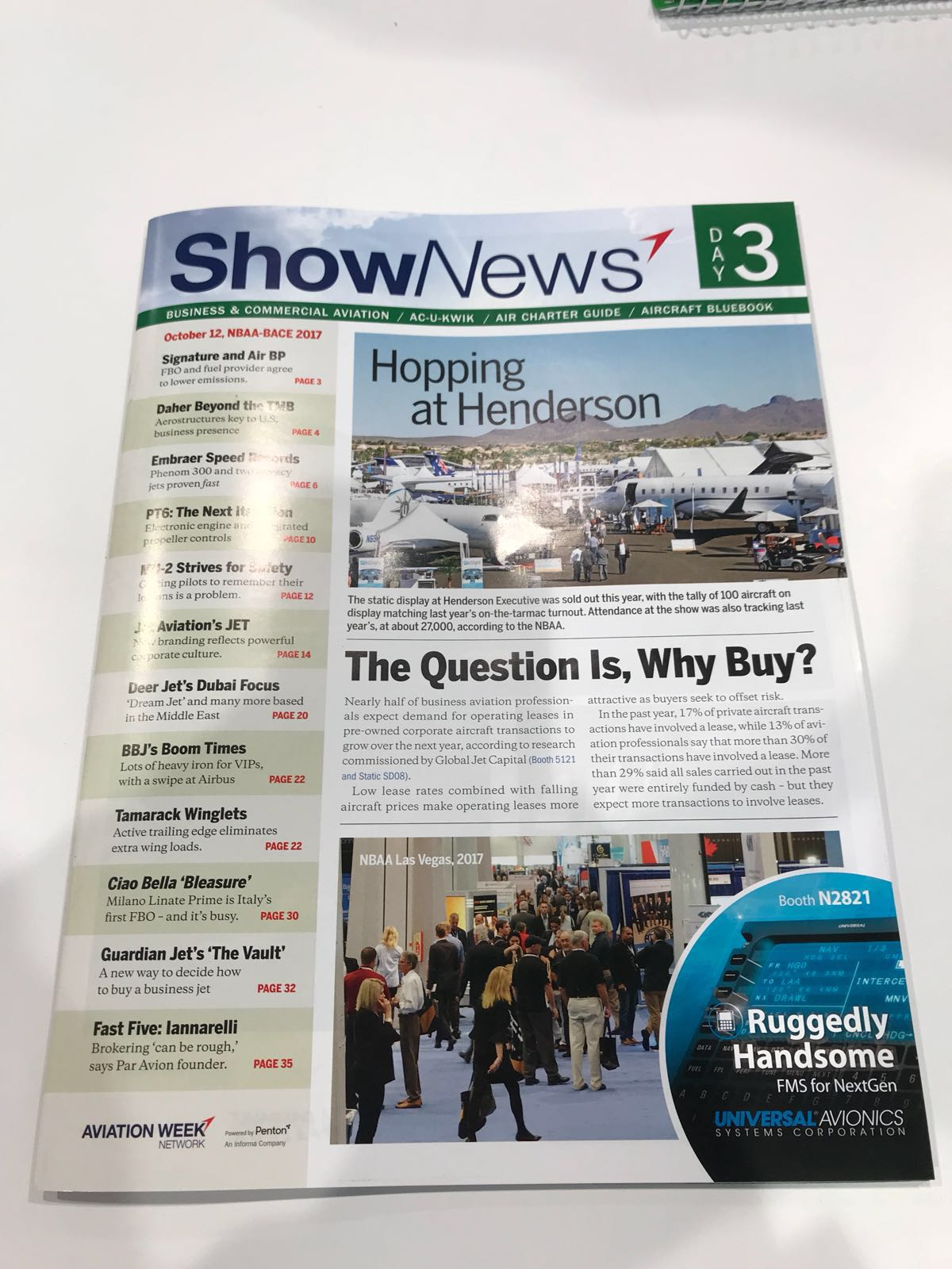 Aviation Week's Show News - Airnav was featured for its Space-Based ADS-B coverage.