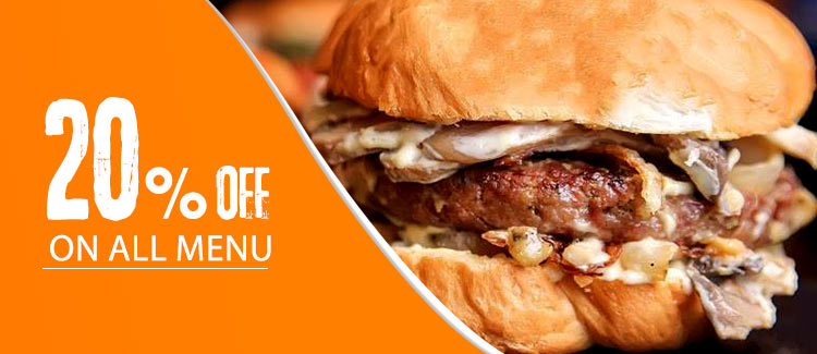 Discount 20% on all menu from Burger Joint - Cairo