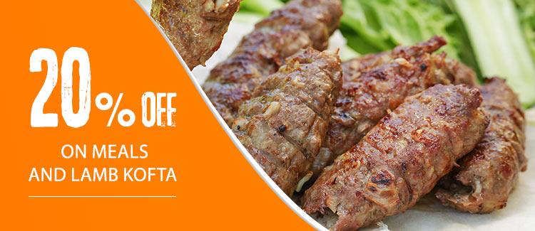 Discount 20% on meals and lamb kofta from Hadrmout Abbas - Nasr City