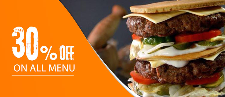 Discount 30% on all menu from sliders - Alexandria