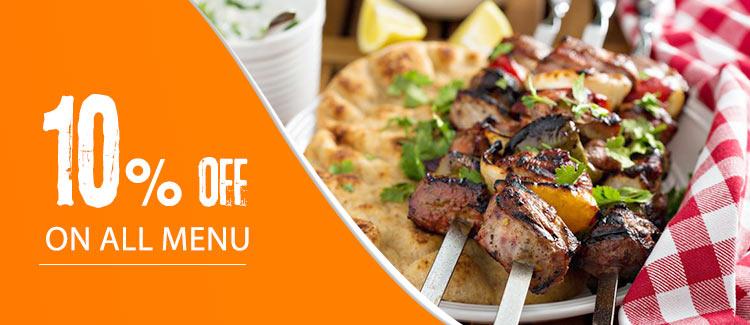 Discount 10% on all menu from Syrian Kaiser -Ain Shams