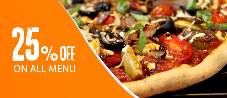 Discount 25% from Pizza Pizza L