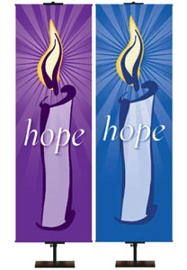 Advent Illustrated Candle Banners