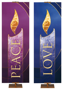 Liturgical Advent Candle Banners