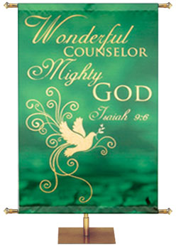 Wonderful Counselor Mighty God Banner