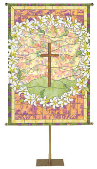 Stained Glass Easter Banner Collection