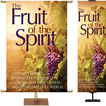 Grapes Fruit of the Spirit Banner Series