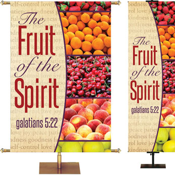 Market Style Fruit of the Spirit Banner
