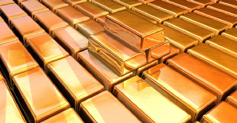 Pile of gold stolen by general Yamishita