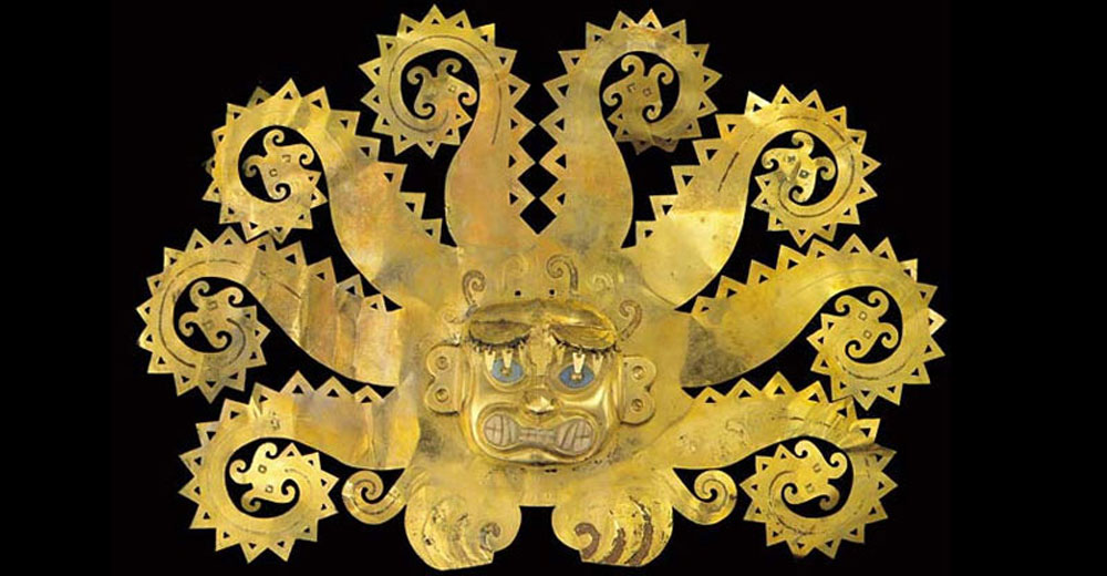 Incan gold mask