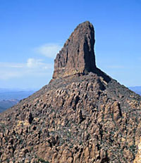 Picture of Weaver's Needle in the Superstition Mountains, Arizon