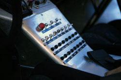 baja 1000 trophy truck interior control panel