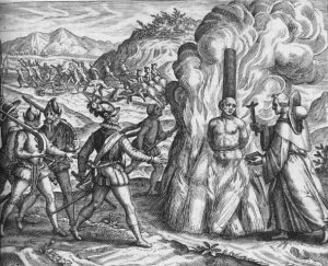 Atahualpa burned at the stake