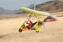 Ultralight Trike Flying over the desert in the Southwest USA