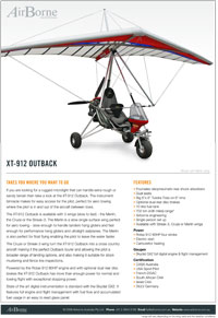 Airborne Outback XT-912 brochure