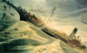 The SS Republic sidewheel steamer sinking