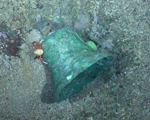 The Bell from the wreck of the ss republic seen at the bottom of the atlantic ocean