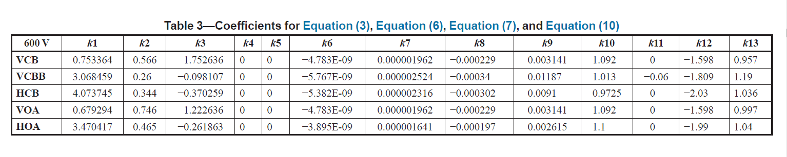 important-coefficients-for-arc-flash-calculations