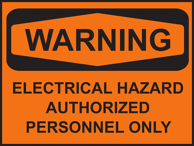 Warning Electric Hazard