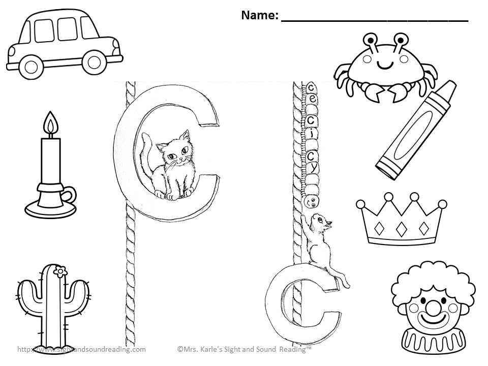 Free With The Letter C Begin Coloring Pages