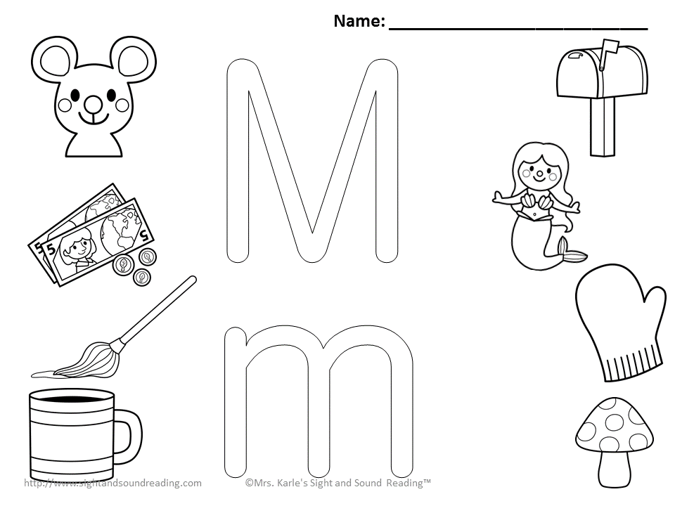 Letter M Coloring Pages We are halfway through the alphabet! Here ...